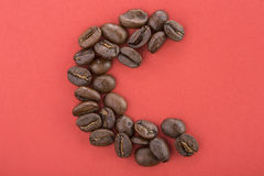 Coffee Beans. Coffee  beans on a plain background Royalty Free Stock Photo
