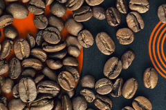 Coffee beans. On the plate Stock Photo