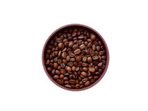 Coffee beans in a pot. Drink caffeine arabica Stock Images