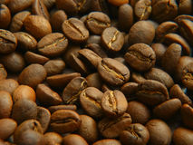 Coffee beans in a pot Stock Photo