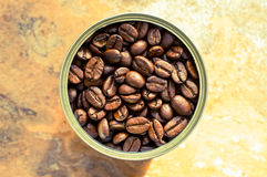 Coffee beans in the pot Royalty Free Stock Photos