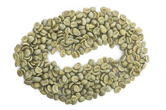 Coffee beans raw Stock Image