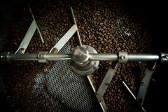 Coffee beans in roast machine, arabica roasted coffee  ,color vi. Ntage style. Thailand Royalty Free Stock Images