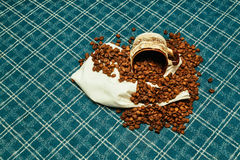Coffee beans roasted  aroma aromatic Royalty Free Stock Photography