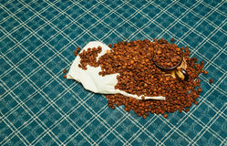 Coffee beans roasted  aroma aromatic Stock Image
