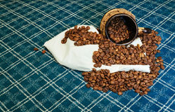 Coffee beans roasted  aroma aromatic Royalty Free Stock Photo