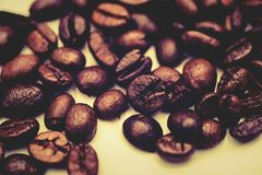 The coffee beans roasted to perfection. Royalty Free Stock Photo