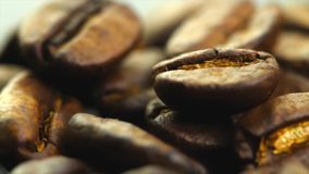 Coffee beans rotate stock video