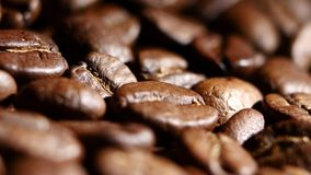 Coffee beans. Rotating. Close up stock video