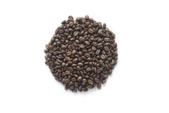 Coffee. Beans round design on white background Royalty Free Stock Photography