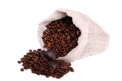Coffee beans sack Royalty Free Stock Photo