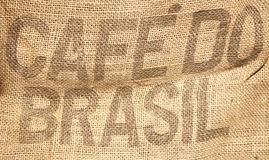 Coffee beans sack background. Vintage coffee beans sack - Coffee concept Royalty Free Stock Photos