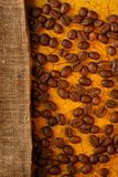 Coffee beans with sack Stock Photo