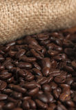 Coffee beans sack Royalty Free Stock Photography
