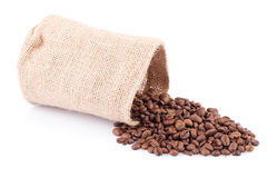 Coffee Beans In Sack Royalty Free Stock Photo