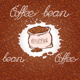 Coffee beans and sack pattern Royalty Free Stock Photo