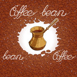 Coffee beans and sack pattern Royalty Free Stock Photography
