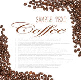 Coffee beans sample text Royalty Free Stock Photo