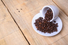 Coffee beans on a saucer Stock Image