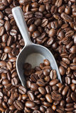 Coffee Beans Scoop Royalty Free Stock Photos