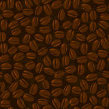 Coffee beans seamless Stock Photography