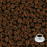 Coffee beans seamless background Royalty Free Stock Image