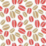 Coffee Beans seamless background stock image