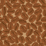 Coffee beans seamless background. Template for Royalty Free Stock Images