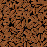 Coffee beans seamless background. Template for Royalty Free Stock Photography