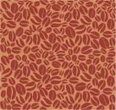 Coffee beans seamless pattern. Brown coffee beans seamless pattern Royalty Free Stock Photos
