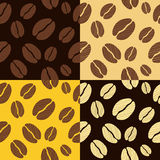 Coffee beans seamless pattern background pattern Royalty Free Stock Images