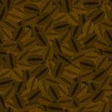 Coffee Beans Seamless Pattern. On Brown Background Royalty Free Stock Photo