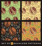 Coffee beans seamless pattern Royalty Free Stock Image