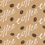 Coffee Beans Seamless Pattern Royalty Free Stock Photography