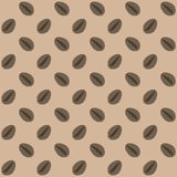 Coffee beans seamless pattern vector. Background with coffee beans. Coffee beans seamless pattern. Background with coffee beans. Coffee grains seamless pattern Stock Image