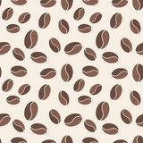 Coffee beans seamless pattern. Vector background. Coffee beans seamless pattern. Vector creative background Royalty Free Stock Photos