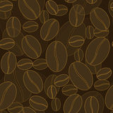 Coffee beans seamless pattern. Royalty Free Stock Image