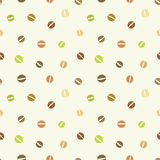 Coffee beans. Seamless pattern of coffee beans. Vector illustration Stock Illustration