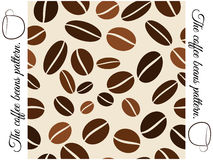 Coffee beans seamless pattern. Vector illustration Royalty Free Stock Images