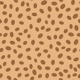 Coffee beans seamless pattern. Vector illustration Stock Photography