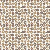 Coffee beans seamless pattern Stock Photos