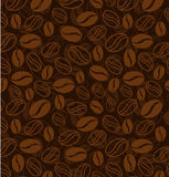 Coffee beans seamless pattern Stock Photography