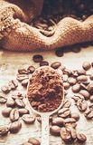 Coffee beans.  Love. Coffee beans. Selective focus. Food Royalty Free Stock Image