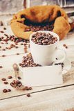 Coffee beans.  romance. Food. Coffee beans. Selective focus.  Food Royalty Free Stock Images