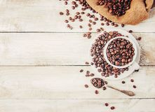 Coffee beans.  romance. Food. Coffee beans. Selective focus.  Food Royalty Free Stock Photos