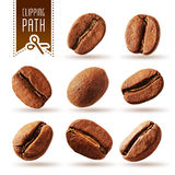 Coffee beans set with clipping path Stock Image