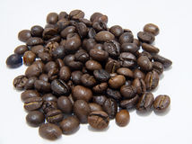 Coffee beans and shadow Royalty Free Stock Photo