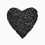 Coffee beans shape of heart background Stock Photo