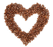 Coffee beans in a shape of hearth Royalty Free Stock Image