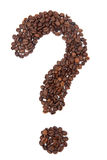 The coffee beans in shape of question mark Royalty Free Stock Photography